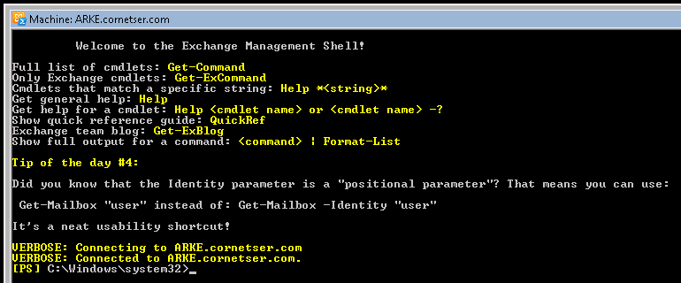 exchangeManagementshell