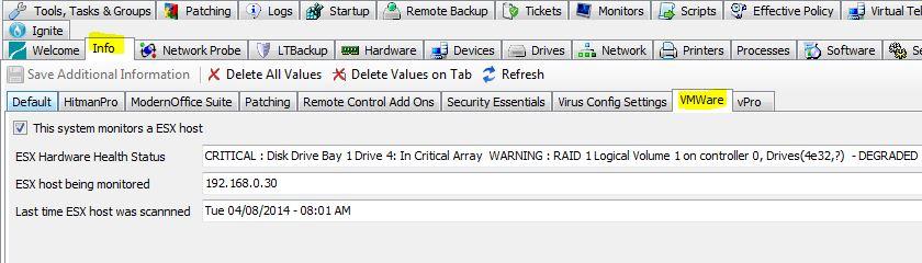 LabTech ESXI Host Hardware Monitor