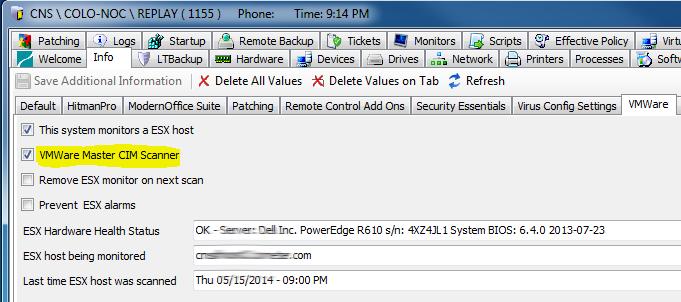 LabTech VMWare ESXi Heath Monitor Plugin v3