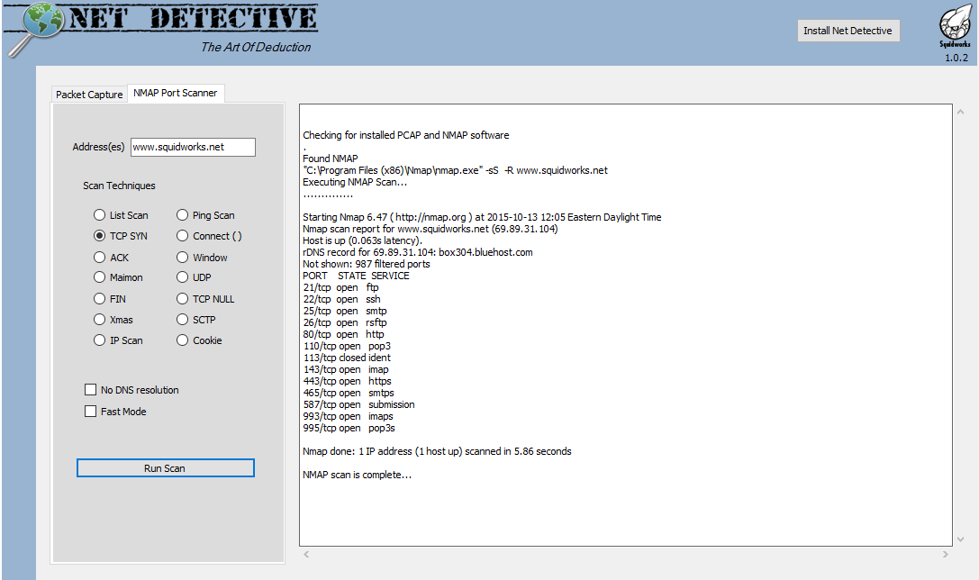 NetDetective – TCPDump and NMAP plugin for LabTech