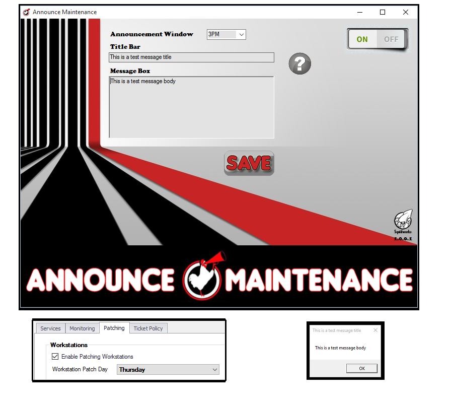 Announce Maintenance Plugin For LabTech